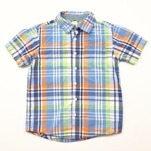 Gymboree plaid buttoned down shirt for boys